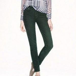 J. Crew City Fit Green Corduroy Pants - Size 30